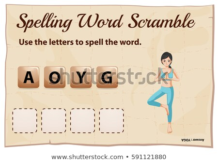 Spelling word scramble game for word youga Stock photo © colematt