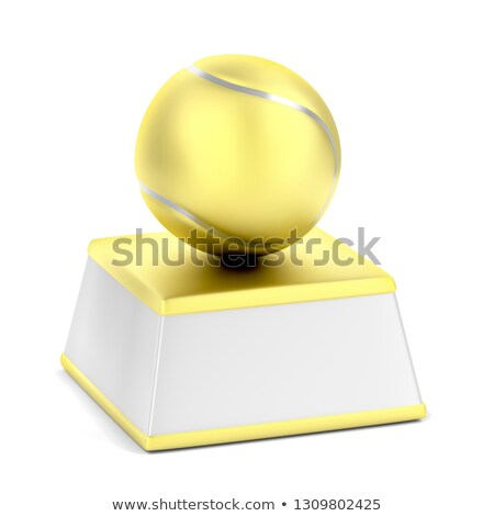 Or trophée balle de tennis blanche tennis balle Photo stock © magraphics