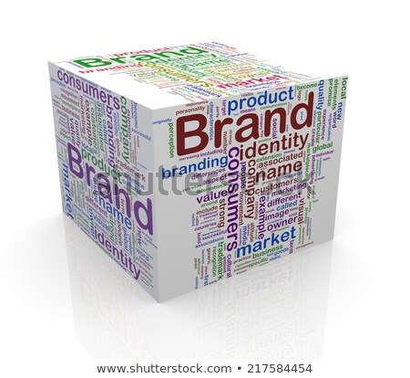 3d box wordcloud tag of marketing concept stock photo © nasirkhan