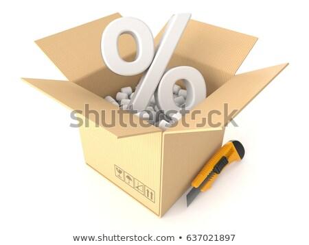 Percent Shipping Cartons Stock photo © limbi007