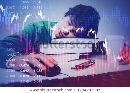 Businessman sleeping with charts, graphs and reports concept Stock fotó © ra2studio