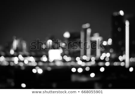Big metropolitan city lights at night, blurry background Stock photo © Anneleven