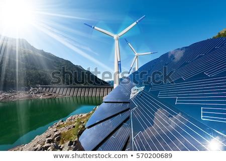 Sostenibile energia produzione alternativa vento potere Foto d'archivio © manfredxy