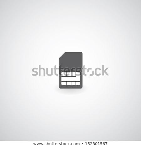 sim card on gray background Stock photo © romvo