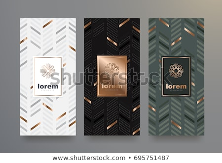 abstract black background with golden contour lines Stock photo © SArts