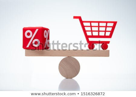 Protecting Balance Between Percentage And Shopping Cart Stock photo © AndreyPopov