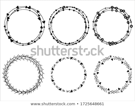 Round frame of laurel white silhouette Stock photo © Blue_daemon