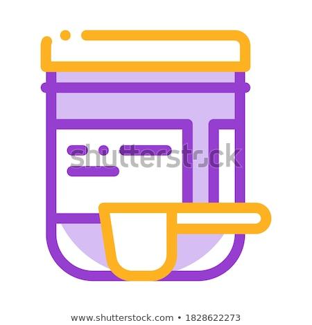Kiegészítők üveg merítőkanál vektor vékony vonal Stock fotó © pikepicture