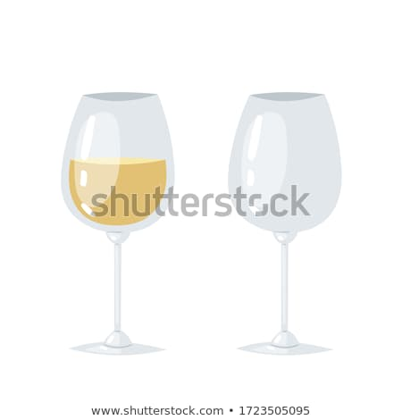 Glasses Poster with Half-Full Glass Wine Isolated Stock photo © robuart