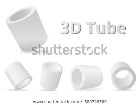 Isometric 3d Cylinder Tubes Vector Illustration Stock photo © jeff_hobrath