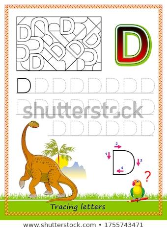 vektor · oktatás · játék · gyerekek · állatok · szó - stock fotó © izakowski