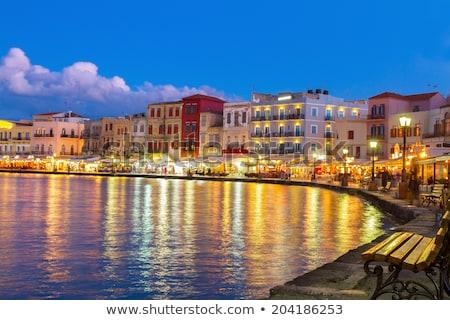 Grecia mar faro soleado verano puesta de sol Foto stock © neirfy
