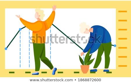 People Standing near Statistics Analysis on Board Stock photo © robuart