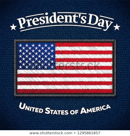Felice giorno biglietto d'auguri USA bandiera jeans Foto d'archivio © sanyal