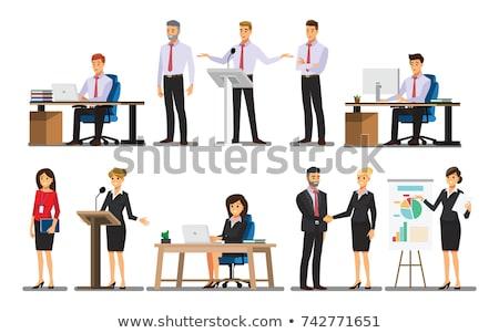 Kantoorwerk mensen die vector ingesteld project dame Stockfoto © robuart