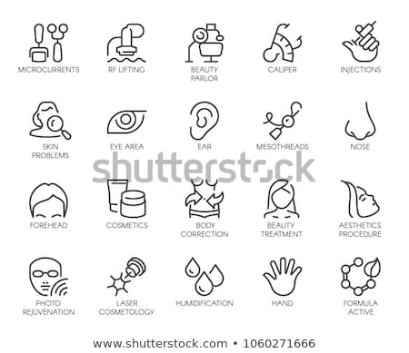anti-aging female procedures icon vector outline illustration Stock photo © pikepicture