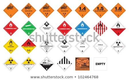 опасный иллюстрация желтый дорожный знак Сток-фото © enterlinedesign
