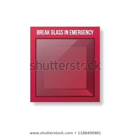 Kırmak durum acil durum kırmızı kutu boş Stok fotoğraf © albund