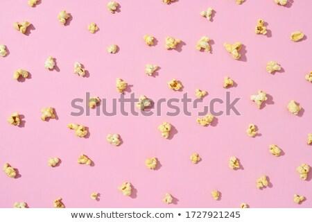 Voedsel patroon heerlijk popcorn licht roze Stockfoto © artjazz