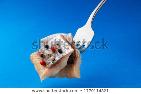 Salado hortalizas blanco placa peces Foto stock © olira