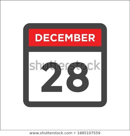 Simples preto calendário ícone dezembro data Foto stock © evgeny89
