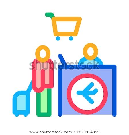 Homem mala dever livre ícone Foto stock © pikepicture