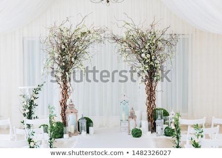 Branco casamento arco decorado flor Foto stock © ruslanshramko