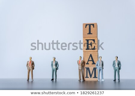 success and strategy word stamped on wooden background stock photo © ansonstock
