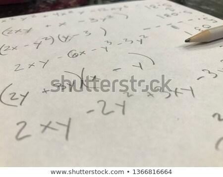 解決する 代数 方程式 チョーク ボード 数学の ストックフォト © mybaitshop