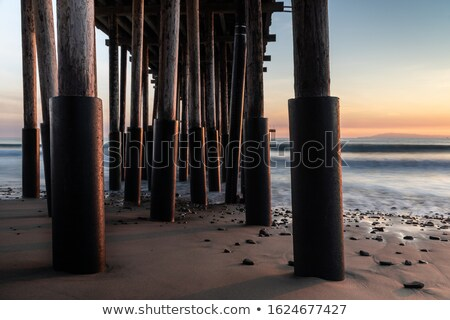 sunrise pier ventura stock photo © hlehnerer