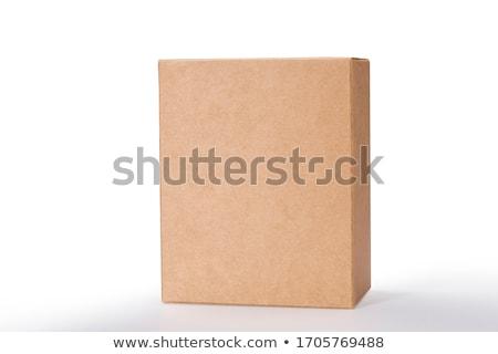 Fechar papel pardo caixa branco papel espaço Foto stock © nuttakit