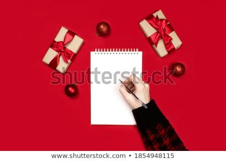 El yazı kelime kız yazmak kâğıt Stok fotoğraf © vrvalerian