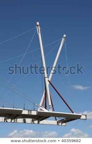 gyalogos · kerékpáros · híd · Málta · tó · víz - stock fotó © papa1266