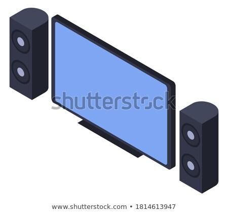 Moderna acústico LCD panel música televisión Foto stock © ozaiachin