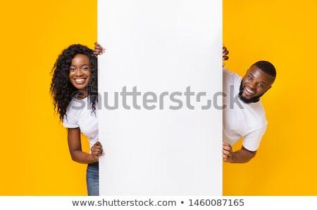 Casal publicidade conselho mulher cara feliz Foto stock © photography33