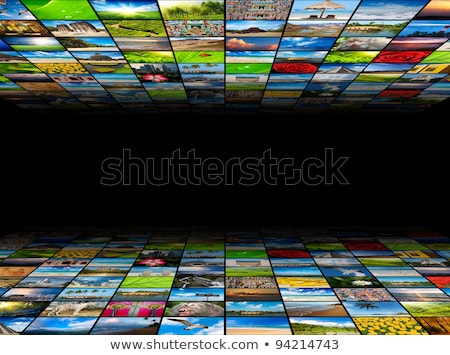 abstract multimedia background composed of many images with copy stock photo © dmitry_rukhlenko