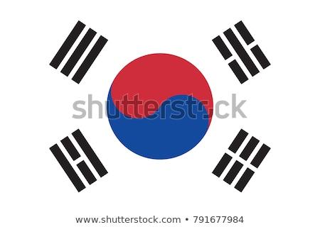 Coréia · do · Sul · bandeira · isolado · moderno · sombra · abstrato - foto stock © zeffss