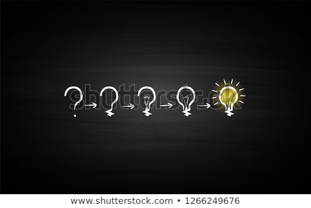 light bulb with question sign Stock photo © marinini