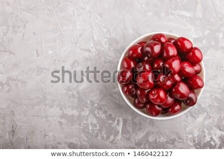 Sweet · красный · вишни · выстрел · свежие - Сток-фото © klsbear