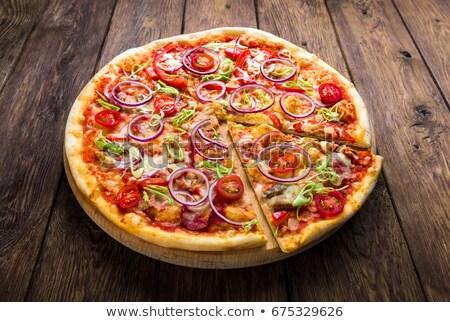 onion pizza Stock photo © ozaiachin