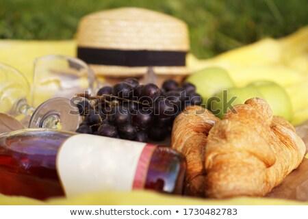 basket of figs and straw hat Stock photo © marimorena