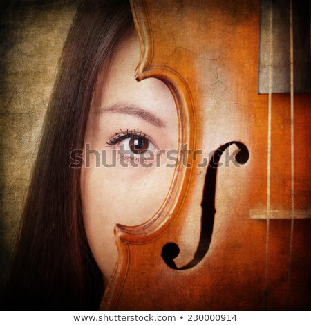 Face Behind Violin Stock photo © cboswell
