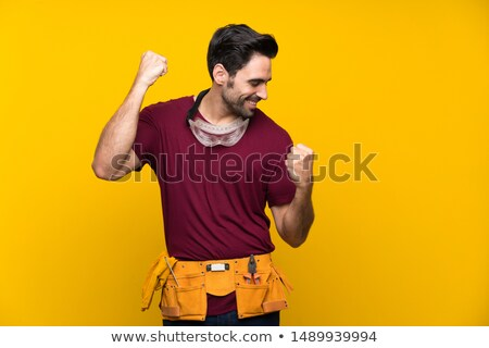 handsome craftsman smiling Stock photo © photography33