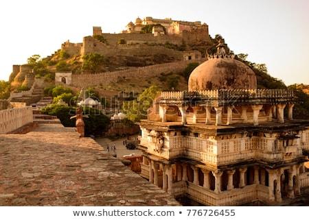 forte · Índia · parede · projeto · arquitetura · indiano - foto stock © mikko