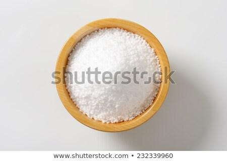 природного грубый соль чаши белый изолированный Сток-фото © deyangeorgiev