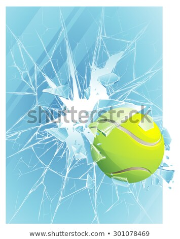 Teniszlabda ablak repedt sport terv zöld Stock fotó © lirch