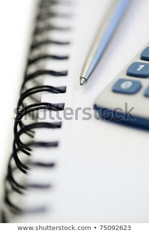 cinza · calculadora · topo · ver · ilustração · branco - foto stock © wavebreak_media