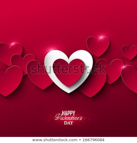 rojo · corazones · San · Valentín · presente · fondo - foto stock © tannjuska
