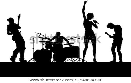 женщины певицы гитарист человека гитаре рок Сток-фото © photography33