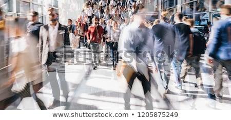 niebieski · metra · tłum · działalności · miasta · kobiet - zdjęcia stock © jamdesign